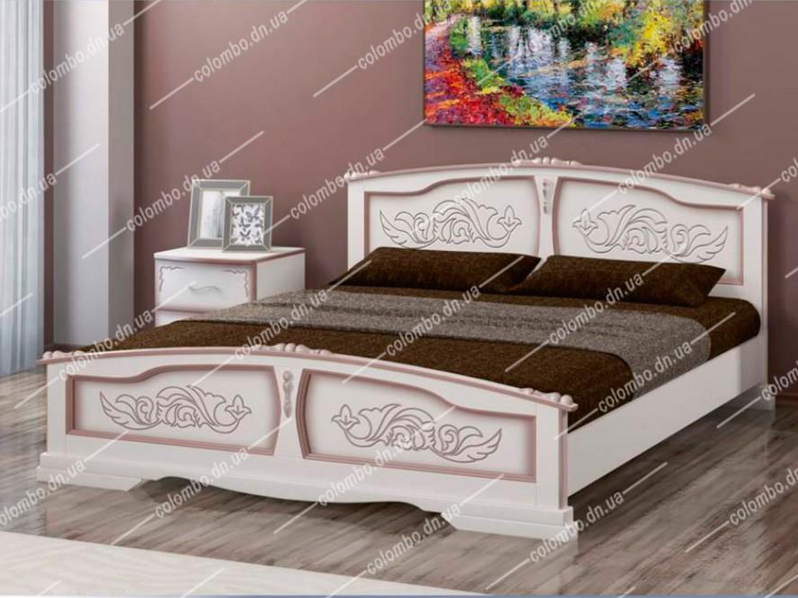 Кровать Елена Дуб молочный Браво мебель Донецк Макеевка ДНР Colombo