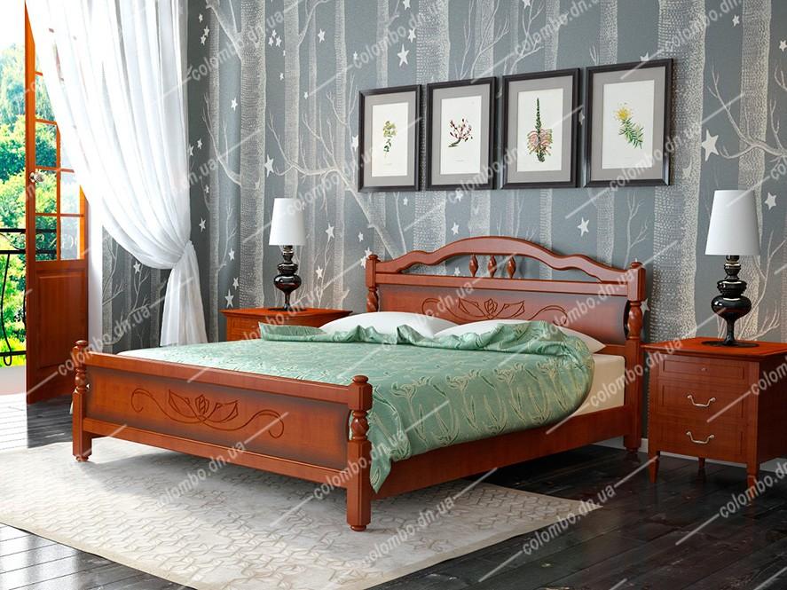 Кровать Карина-5 орех Браво мебель Донецк ДНР Colombo