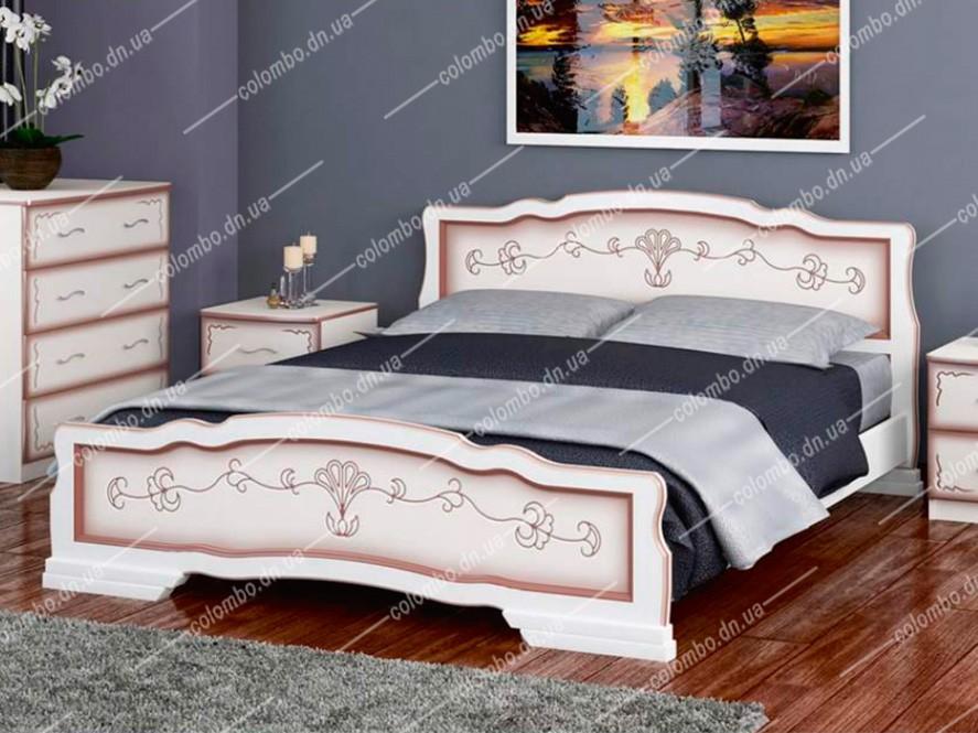 Кровать Карина-6 Дуб молочный Браво мебель Донецк Макеевка ДНР Colombo