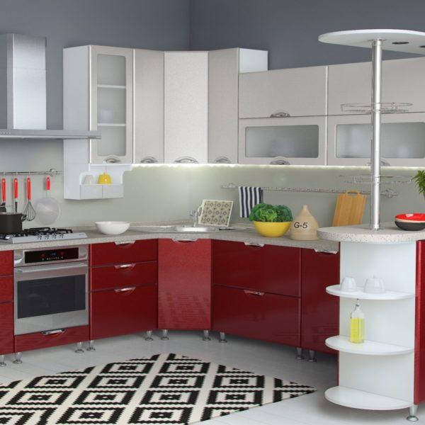 Кухня Равенна Вива серый/бордо Империал Донецк Макеевка ДНР Colombo