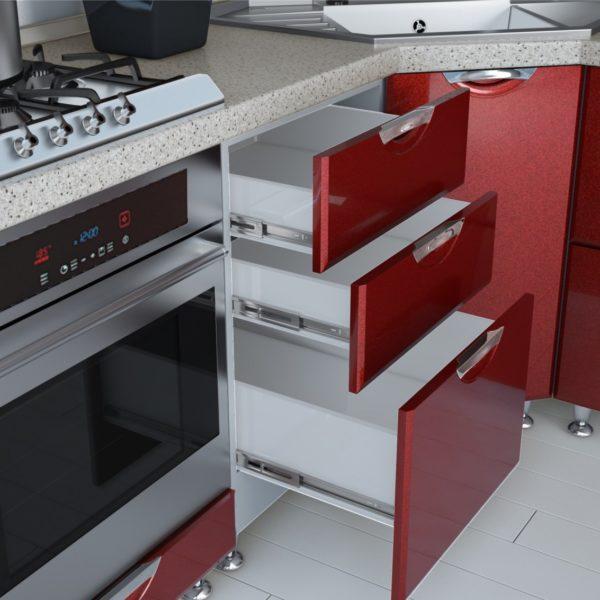 """Кухня """"Равенна Вива Серый/Бордо"""""""