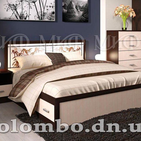 """Двуспальная кровать """"Мальта"""" с ящиками, мф """"Миф"""""""