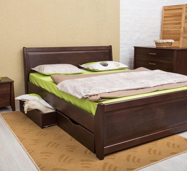 Кровать Сити с филёнкой и ящиками