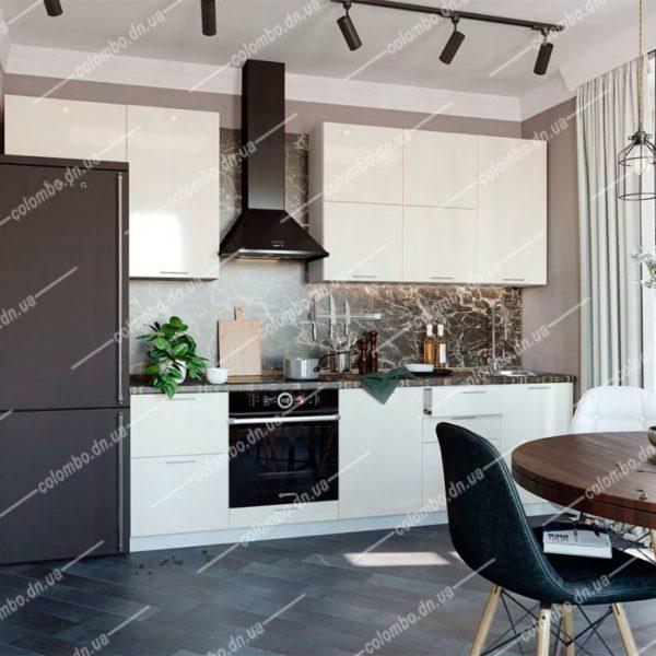 Модульная кухня Валерия Ваниль глянец сурская мебель Донецк ДНР Colombo