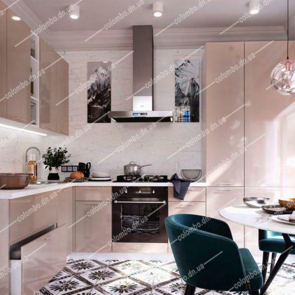 Модульная кухня Валерия Капучино глянец сурская мебель Донецк ДНР Colombo