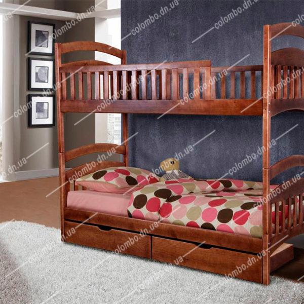 """Двухъярусная деревянная кровать """"Кира"""""""