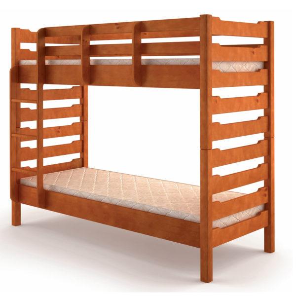 Двухъярусная деревянная кровать Троя Микс мебель Донецк ДНР Colombo