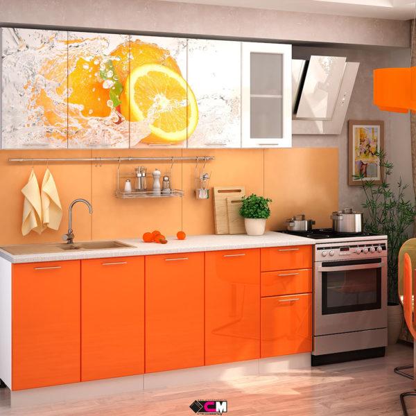 Кухня апельсин Стенд Мебель Донецк Макеевка ДНР Colombo