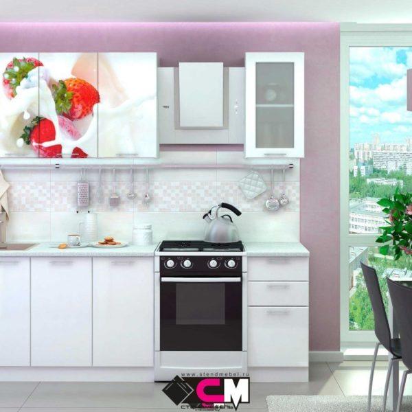 Кухня с фотопечатью Кофе со сливками Стенд Мебель Донецк Макеевка ДНР Colombo
