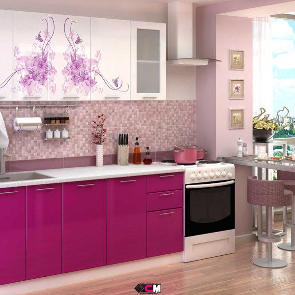 Кухня с фотопечатью нежность Стенд Мебель Донецк Макеевка ДНР Colombo