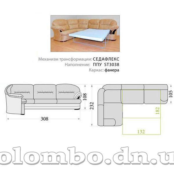 Угловой диван Майами long