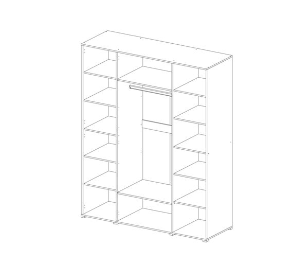 Шкаф 4-ёх створчатый Вегас