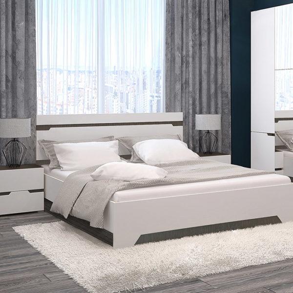 """Двуспальная кровать """"Анталия""""  с подъёмным механизмом + прикроватные тумбы, мф """"Горизонт"""""""