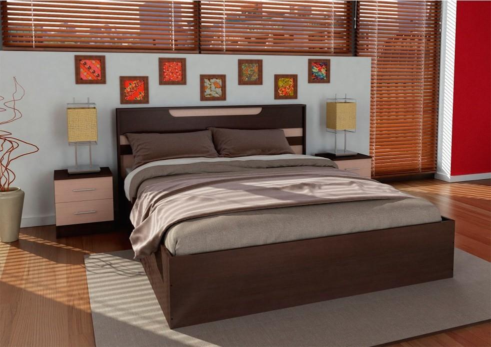 Двуспальная кровать Юнона Комби