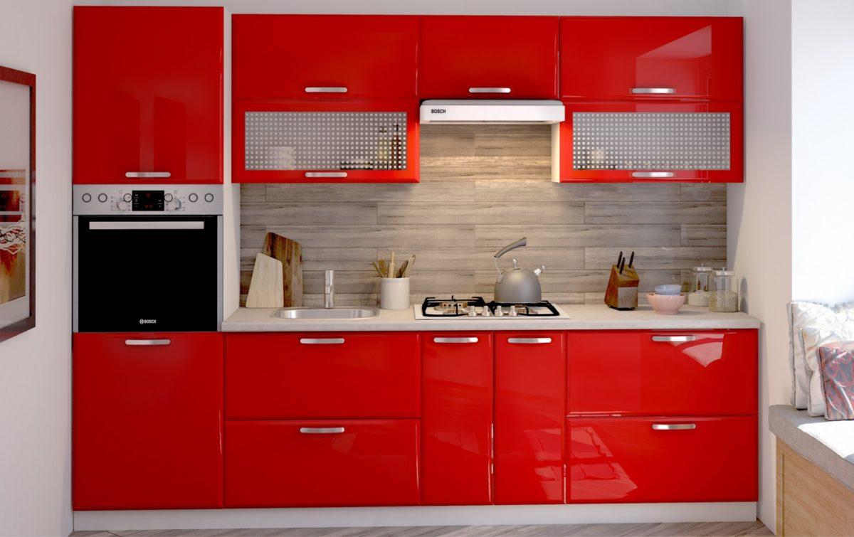 Кухня Равенна Лофт Красный Империал Донецк Макеевка ДНР Colombo