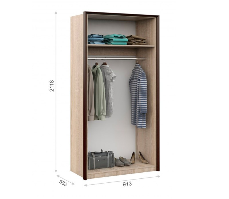 Шкаф 2-ух створчатый Эшли