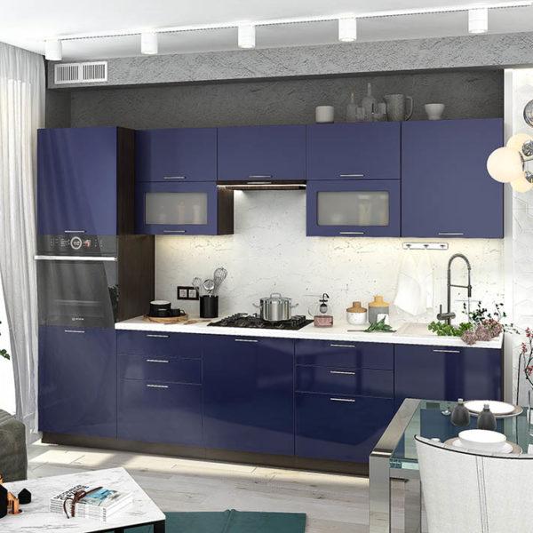 Кухня Королевский синий сурская мебель Донецк Макеевка ДНР Colombo