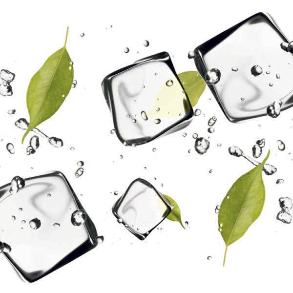 """Фартук для кухни из МДФ """"Кубики Льда и Листья Мяты"""""""