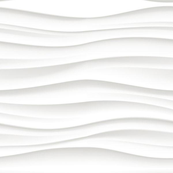 """Фартук для кухни из МДФ """"Белая Волнистая Текстура"""""""