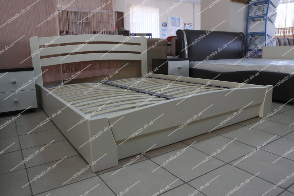 Двуспальная деревянная кровать с подъёмным механизмом Селена Аури Woodmarket Донецк Макеевка ДНР Colombo