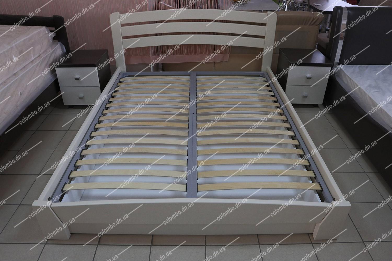 """Двуспальная деревянная кровать с подъёмным механизмом """"Селена Аури"""" цвет Бежевый"""