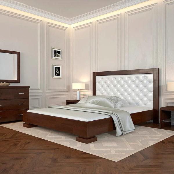 двуспальная деревянная кровать подиум Woodmarket 24 Донецк ДНР Colombo
