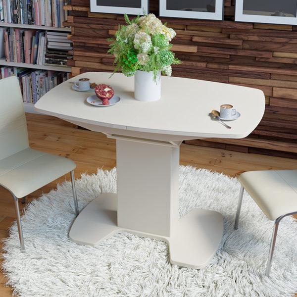 Стол обеденный раздвижной со стеклом «Портофино-6»