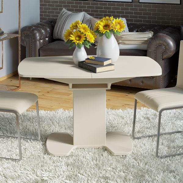 Стол обеденный раздвижной со стеклом «Портофино-7»