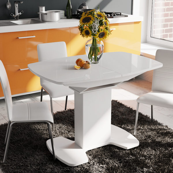 Стол обеденный раздвижной со стеклом «Портофино-9»