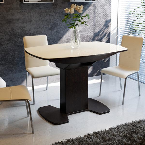 Стол обеденный раздвижной со стеклом «Портофино-10»
