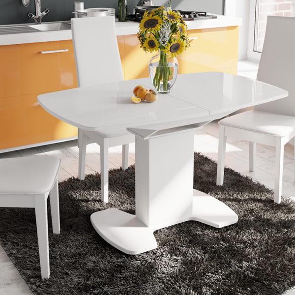 Стол обеденный раздвижной со стеклом «Портофино-11»