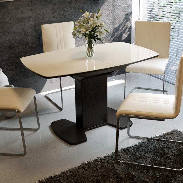 Стол обеденный раздвижной со стеклом «Портофино-12»