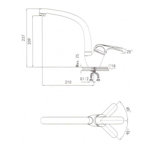 Кухонный смеситель Granula 2024