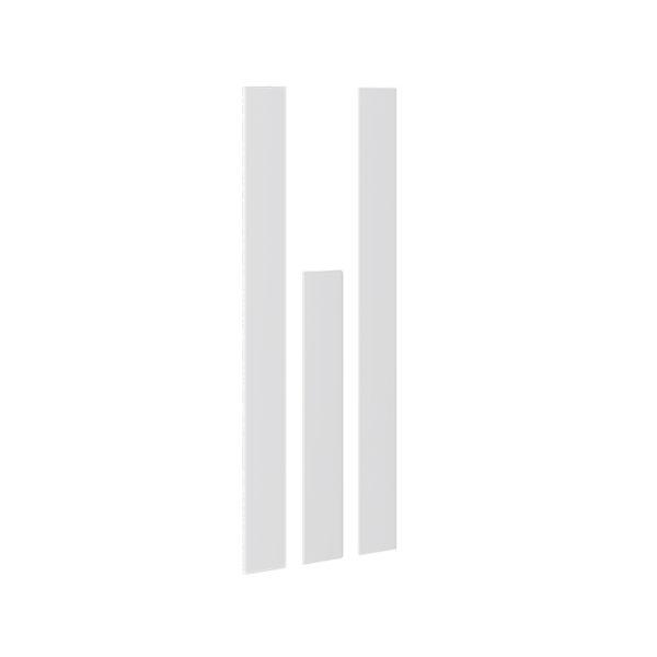 Комплект декоративных планок для комплектации шкафа с 3-мя дверями «Наоми» Белый глянец мф три-я