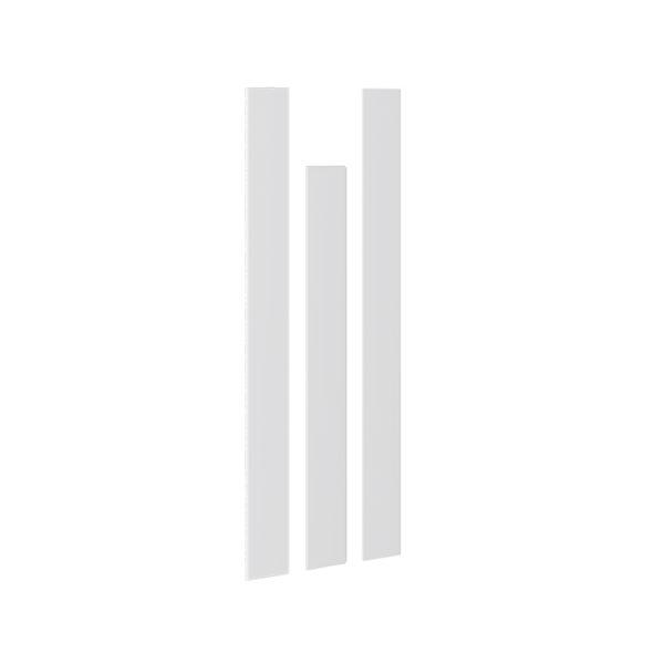 Комплект декоративных планок для комплектации шкафа с 4-мя дверями «Наоми» Белый глянец мф три-я