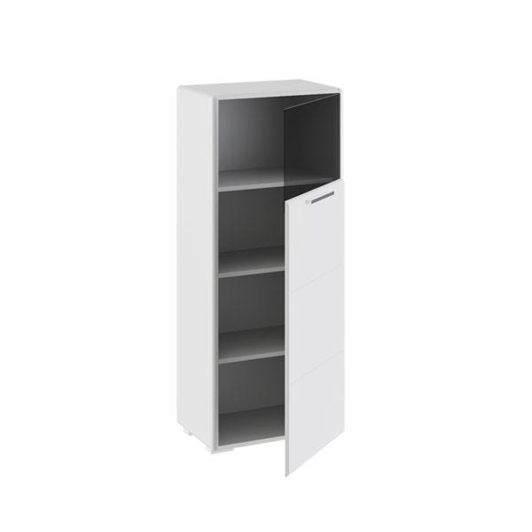 Шкаф комбинированный с 1-ой дверью Наоми Белый глянец