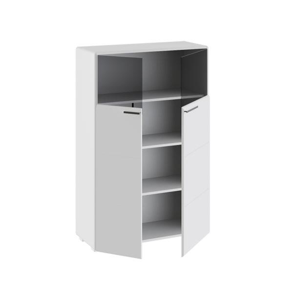 Шкаф комбинированный с 2-мя дверью Наоми Белый глянец