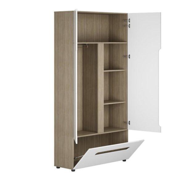 Шкаф 2х створчатый с комбинированный