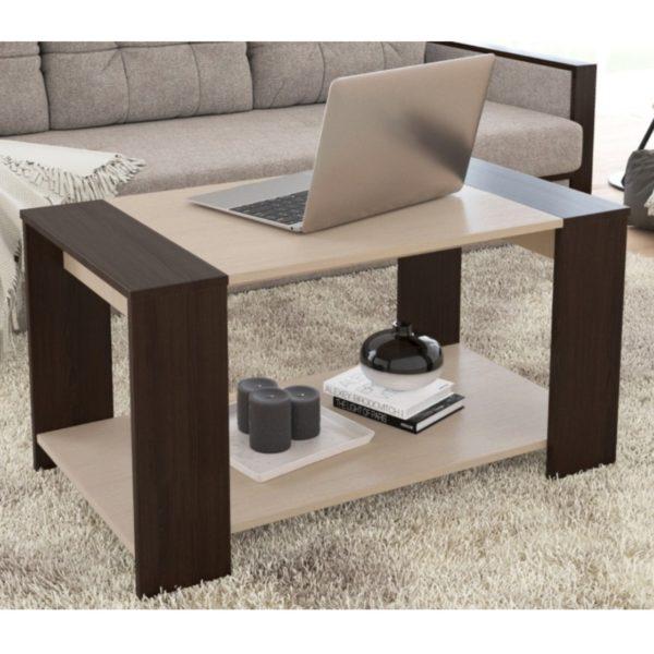 Журнальный стол Аврора - Дуб Сонома/Белый Софт