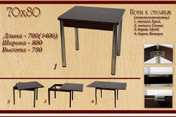 Стол 70x80