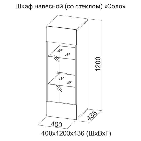 Шкаф навесной (стек) Соло
