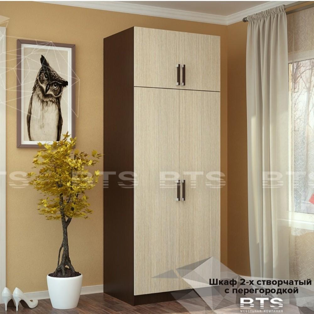 Шкаф 2-х створчатый с перегородкой от BTS в Донецке интернет-магазин Коломбо