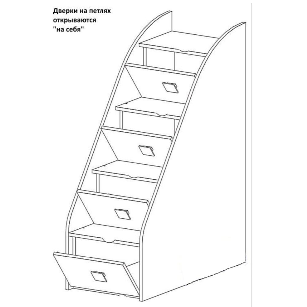 Лестница-комод Радуга