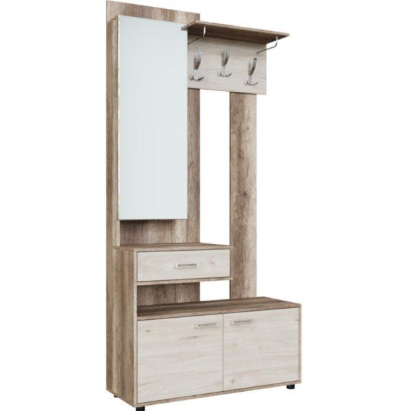 Вешалка с зеркалом Визит-1 от SV-Мебель в Донецке интернет-магазин Коломбо