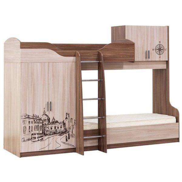 Кровать двухъярусная Город от SV-Мебель в Донецке интернет-магазин Коломбо