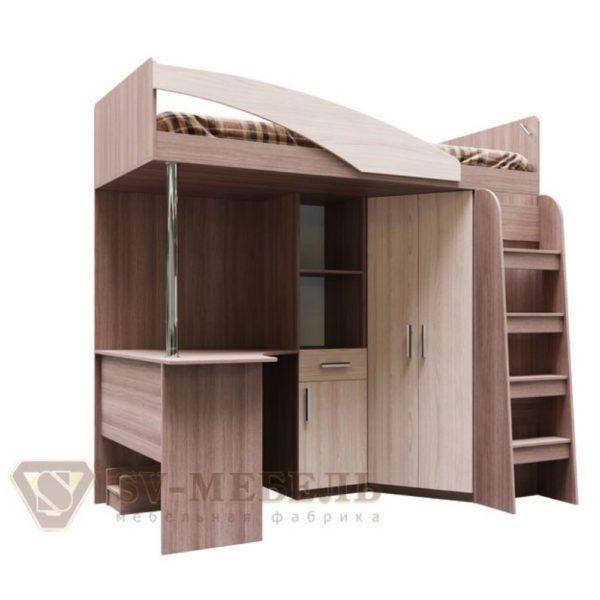 Кровать двухъярусная комбинированная Город от SV-Мебель в Донецке интернет-магазин Коломбо
