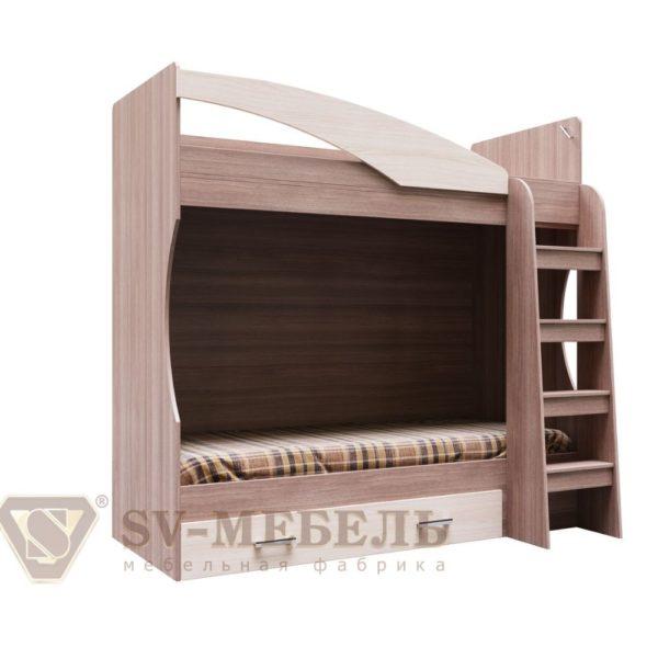 Кровать двухъярусная с ящиками Город от SV-Мебель в Донецке интернет-магазин Коломбо