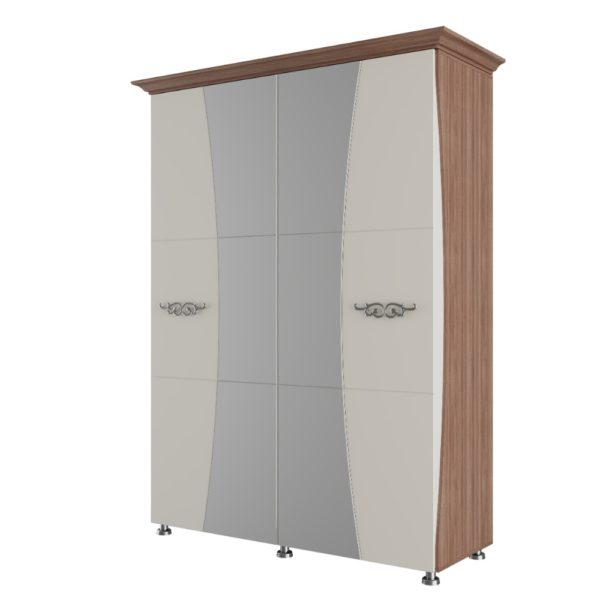 Шкаф для платья и белья четырехстворчатый Лагуна 7 от SV-Мебель в Донецке интернет-магазин Коломбо