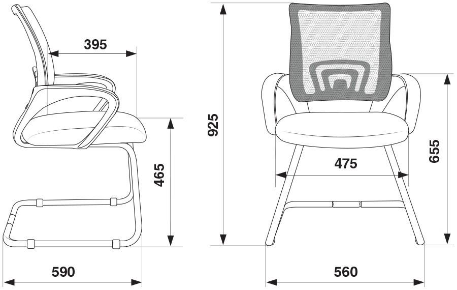 Кресло Бюрократ CH-695N-AV