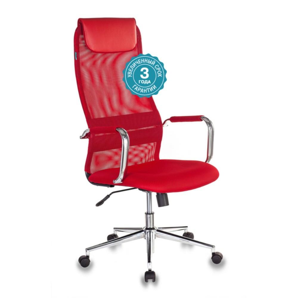 Кресло руководителя Бюрократ KB-9N красный TW-35N TW-97N сетка с подголов. крестовина металл хром купить в интернет-магазине Коломбо